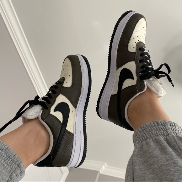 NIKE AIR FORCE 1 customized matte BROWN